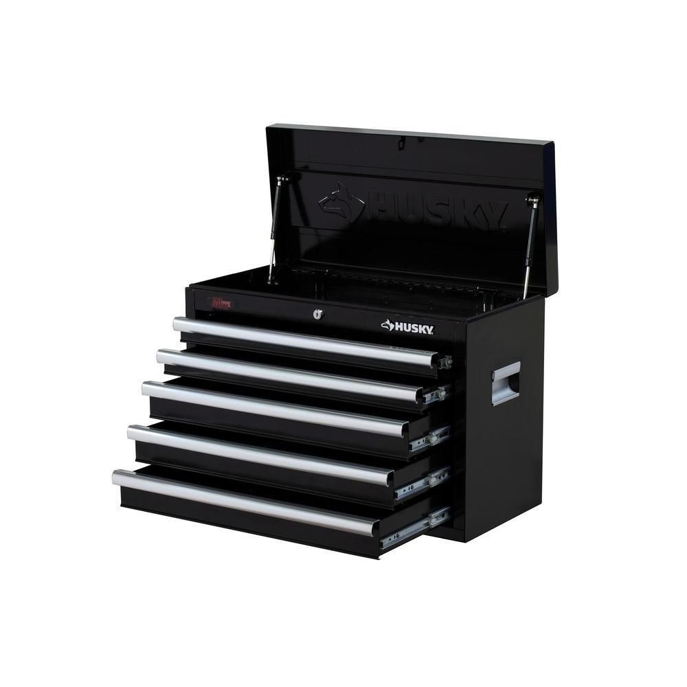 Husky 26 In W 5 Drawer Chest H5ch2 The Home Depot Drawers The Home Depot Affordable Storage