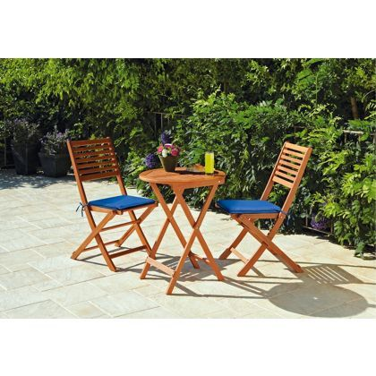 Henley Bistro Garden Table and Chairs Set. at Homebase | Garden ...