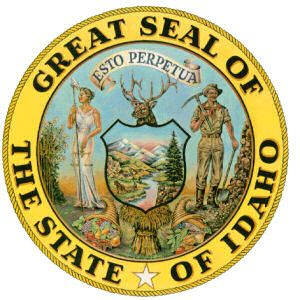 The Great Seal Of The State Of Idaho Idaho Idaho State States