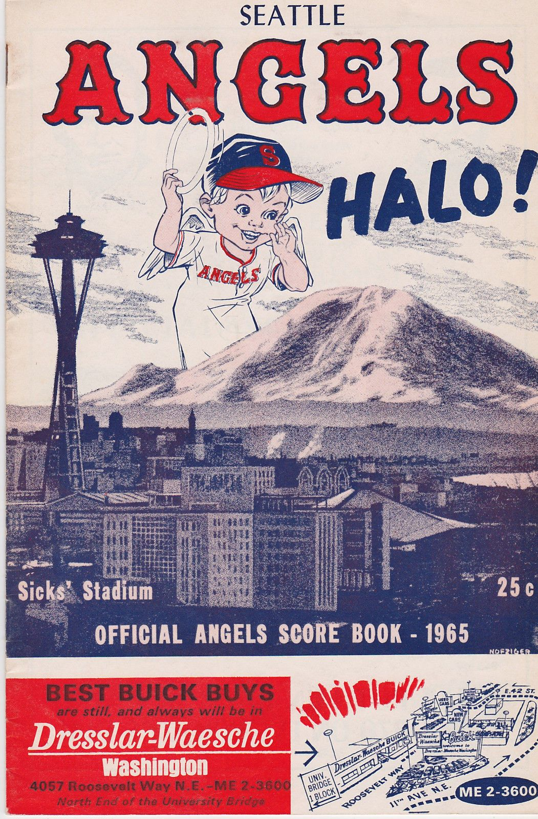 1965 Seattle Angels (AAA ball) scorebook (With images