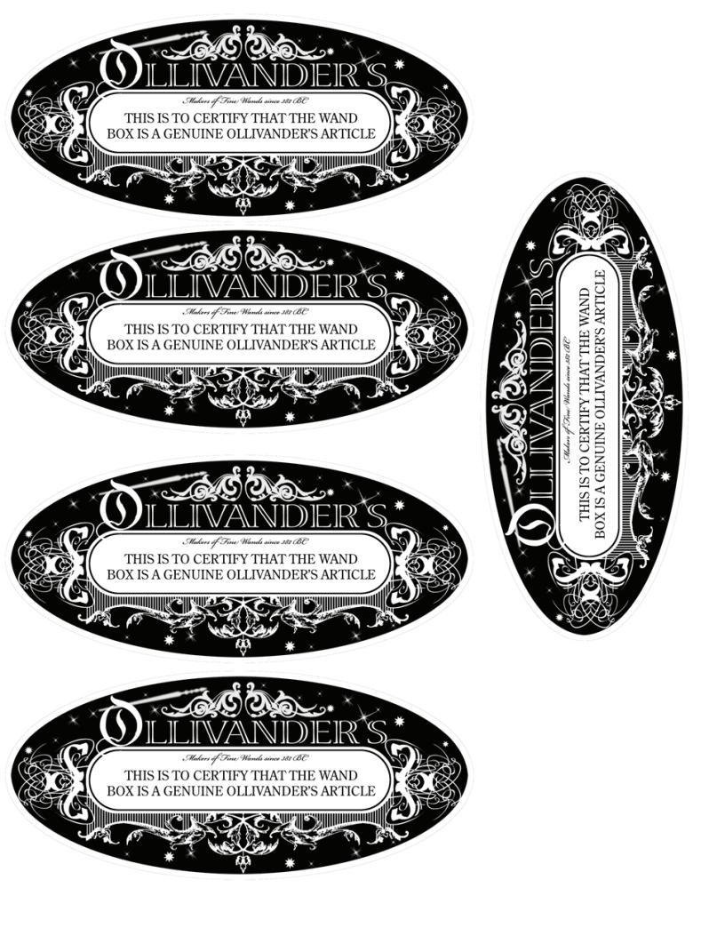 ollivander wand label.pdf | HP Ideas | Pinterest | Wand, Pdf and ...