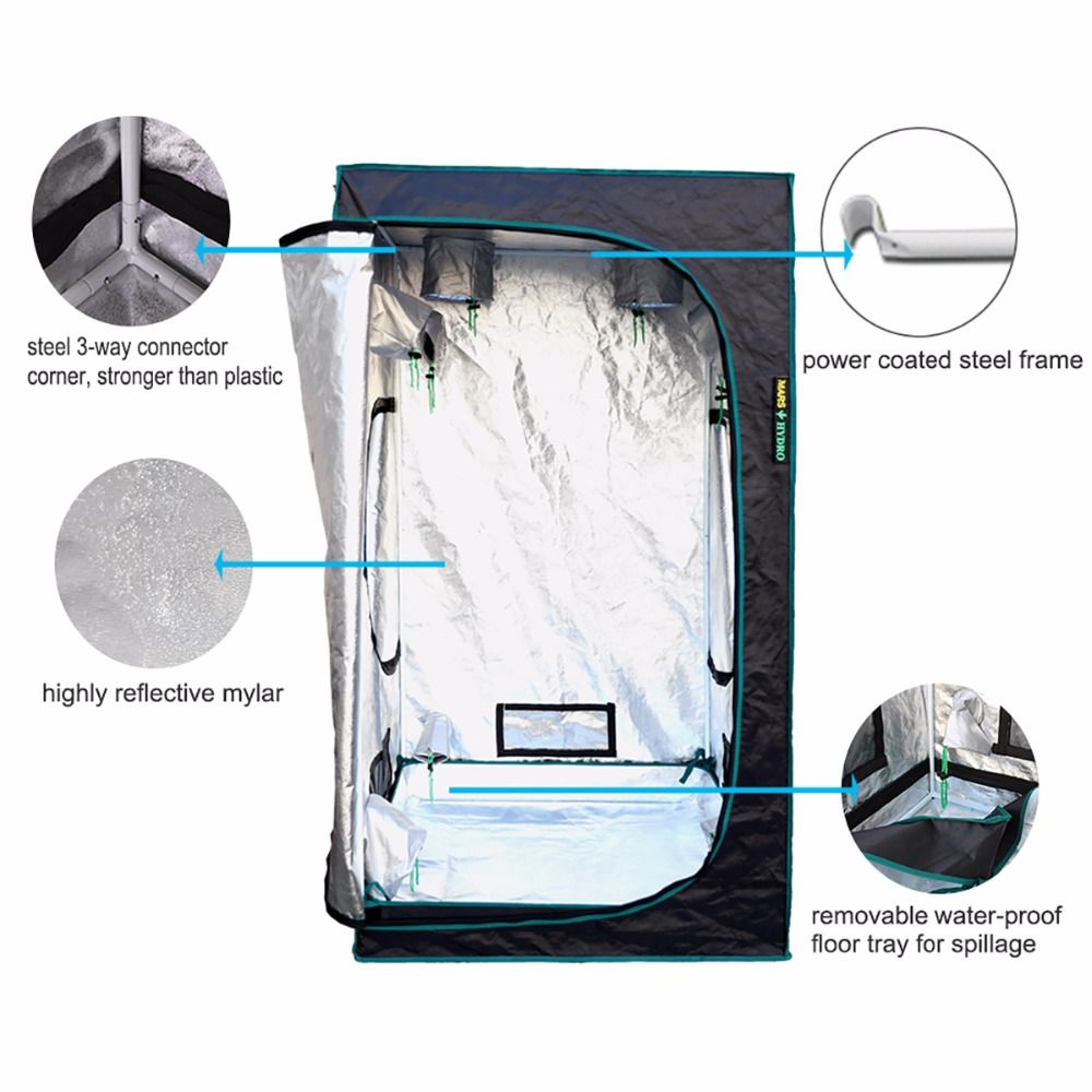 1680D Marshydro Indoor Hydroponics grow tent 100*100*180cm Grow kit Completely  sc 1 st  Pinterest : indoor growing tents kits - memphite.com