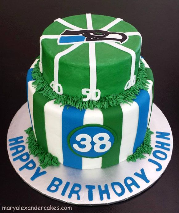 Birthday Parties Birth Day Sea Hawks Theme Cake From Mary Alexander Cakes In Dallas Texas Maryalexandercakes