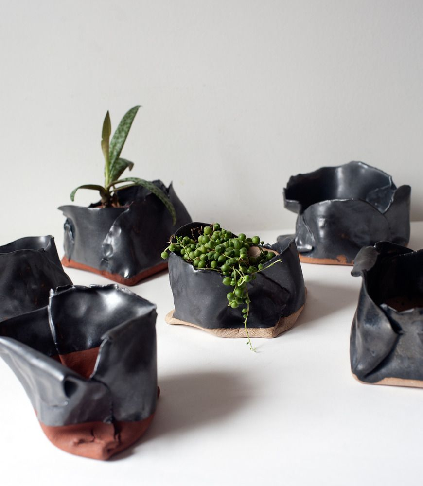 Free-form folded planters