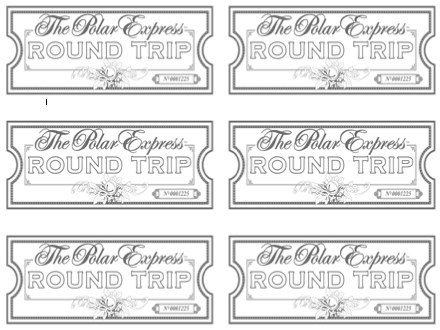 picture regarding Polar Express Tickets Printable identified as Polar Convey Ticket Coloring Web page Coloring Internet pages