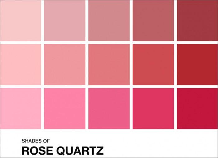 Paleta De Cores Para O Casamento Tons De Rosa Quartz