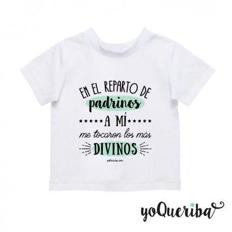 Regalo Para Ahijado De 1 Ano.Camiseta Bebe Padrino Madrina O Padrinos Los Mas Divinos