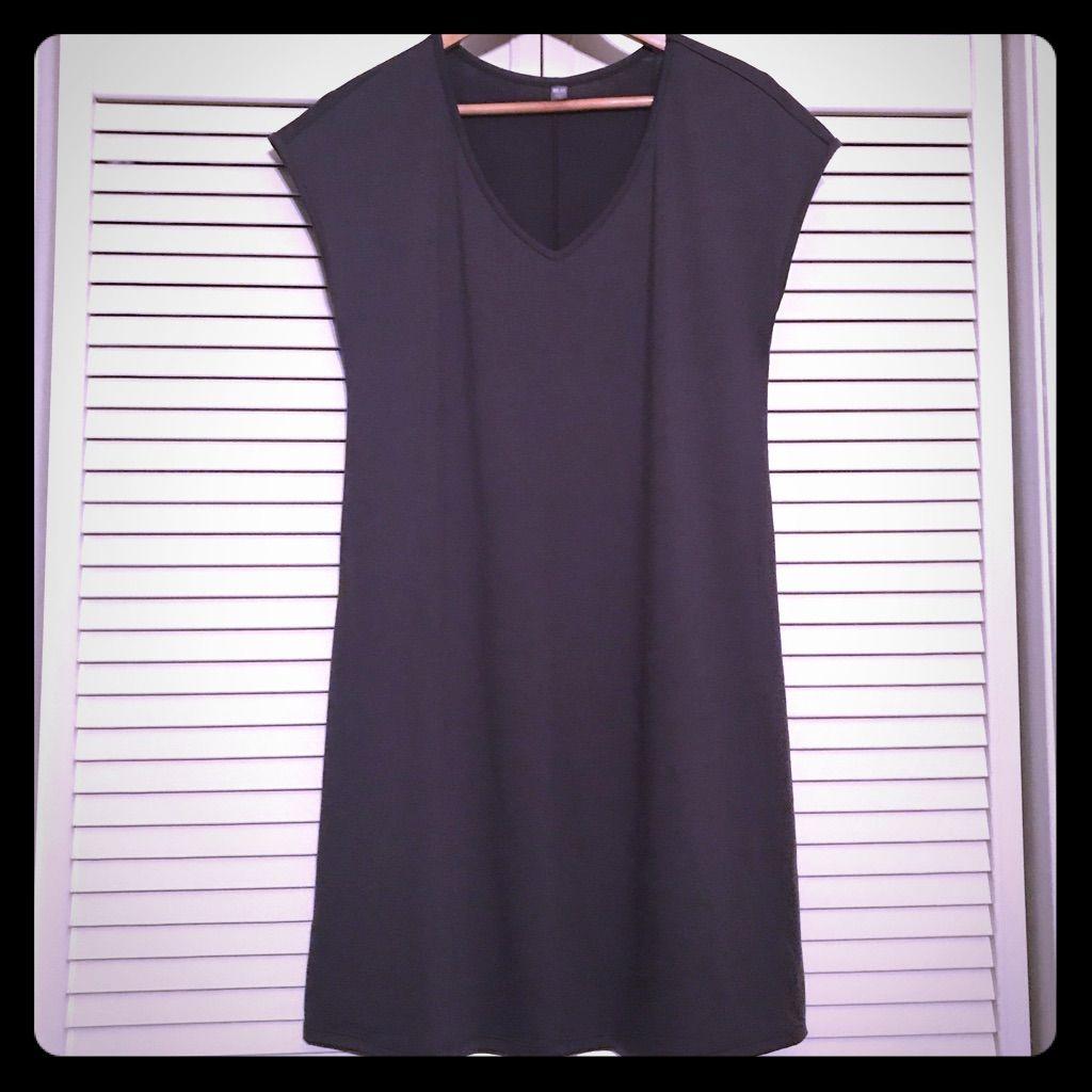 Uniqlo gray sleeveless jersey dress products pinterest uniqlo