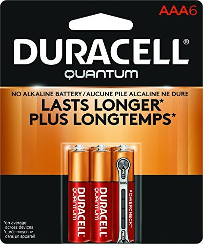 Duracell Quantum Alkaline Aaa Batteries 6 Count Check Power Level Instantly Duracell Alkaline Battery Aaa Batteries