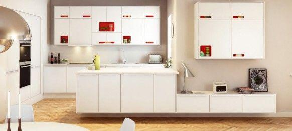 Schöne skandinavische Küchen   weiße Küchen, Skandinavische küche ...