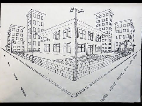 Iki Noktada Kacisli Dis Mekan Tasarimi Youtube Perspective Drawing Lessons Architecture Drawing Perspective Drawing