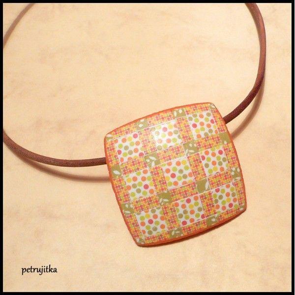 Patchworkový náhrdelník VIII.