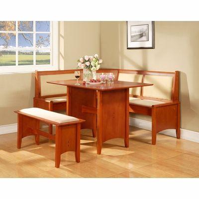 Linon Cherry Breakfast Nook Set 549 Meijers Could Cushion