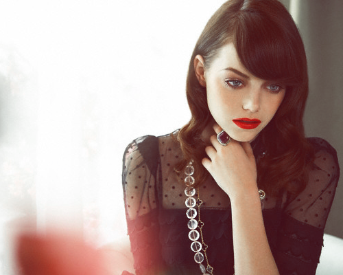 Emma Stone- a person who is beautiful from the inside out. Totally genuine and always being herself, not afraid to show her true colors.