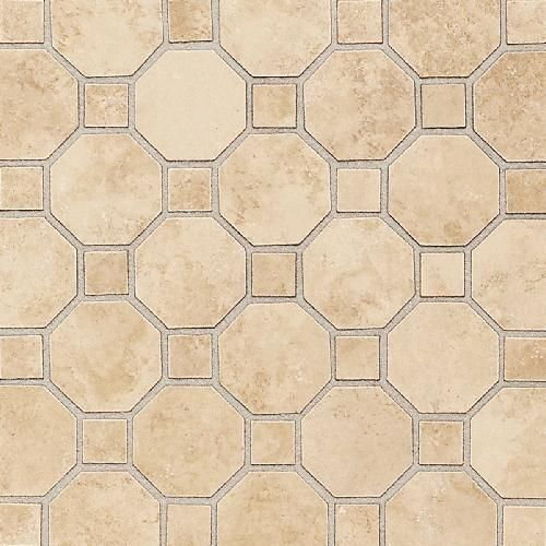 Decorative Accent Ceramic Wall Tile Extraordinary Daltile Salerno Nubi Bianche Sl81 Octagon & Dot Mosaic Ceramic Design Inspiration
