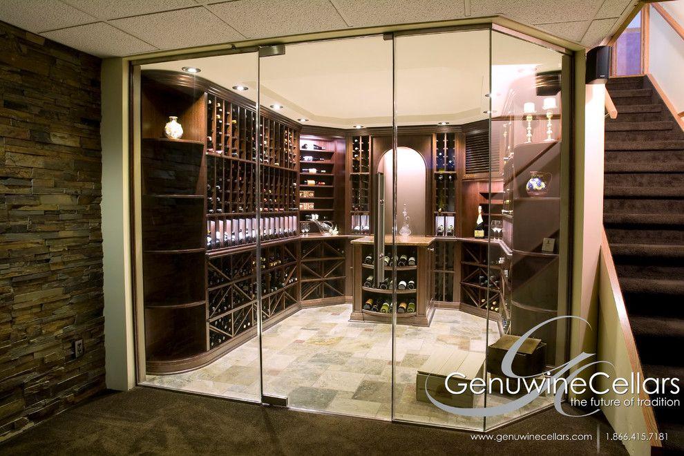 Cool-Genuwine-decorating-ideas-for-Wine-Cellar-Traditional-design