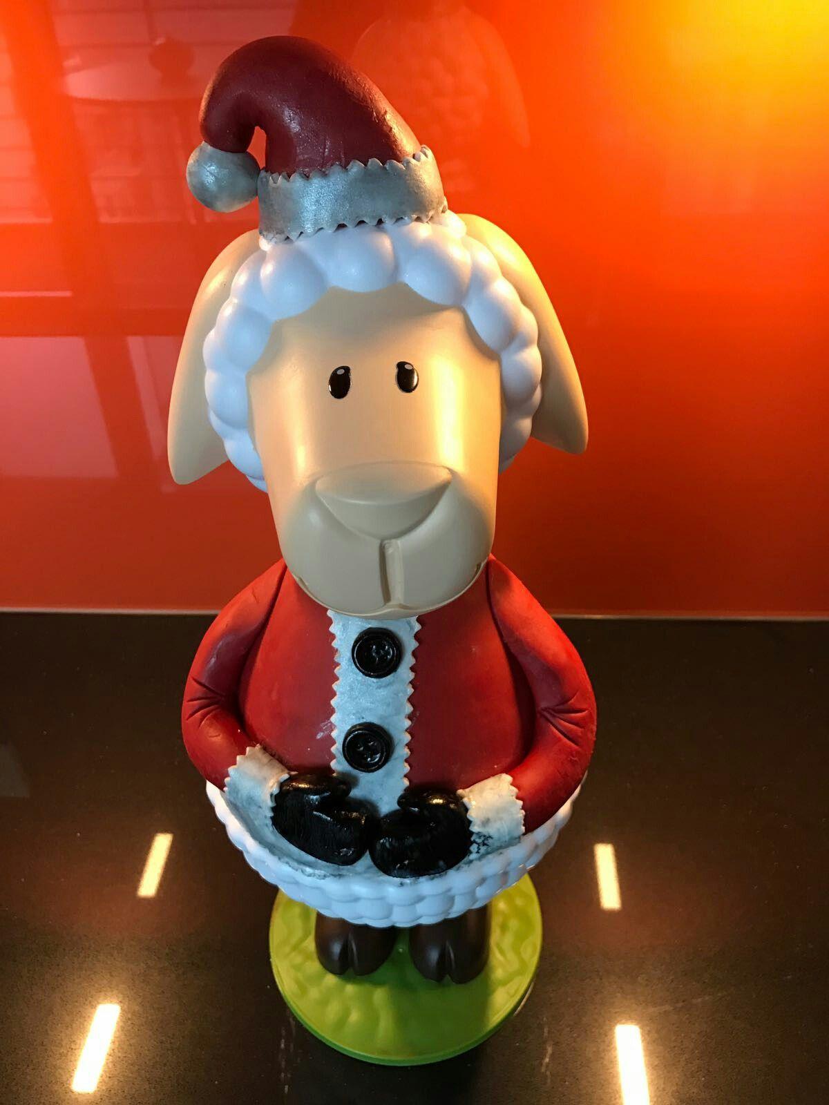 Caketales Weihnachtsmann Weihnachtsschaf Fondant ...