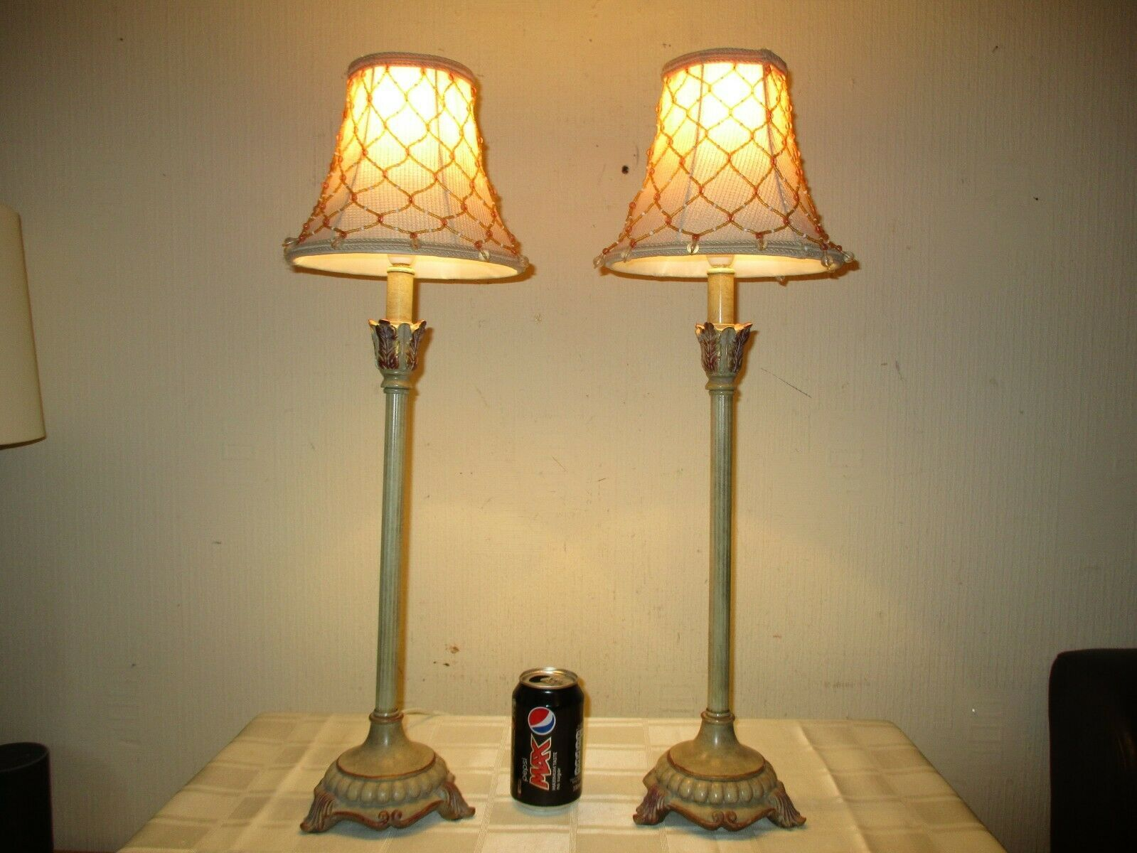 Details about TALL PAIR OF VINTAGE ORNATE CANDLE STICK