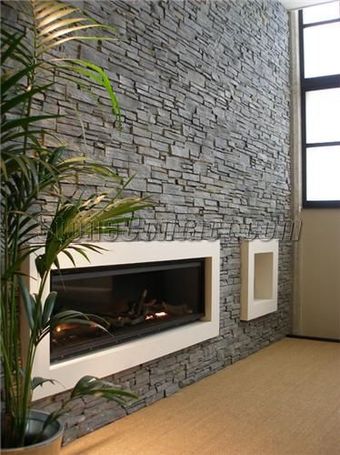 slate wall cladding for fireplace