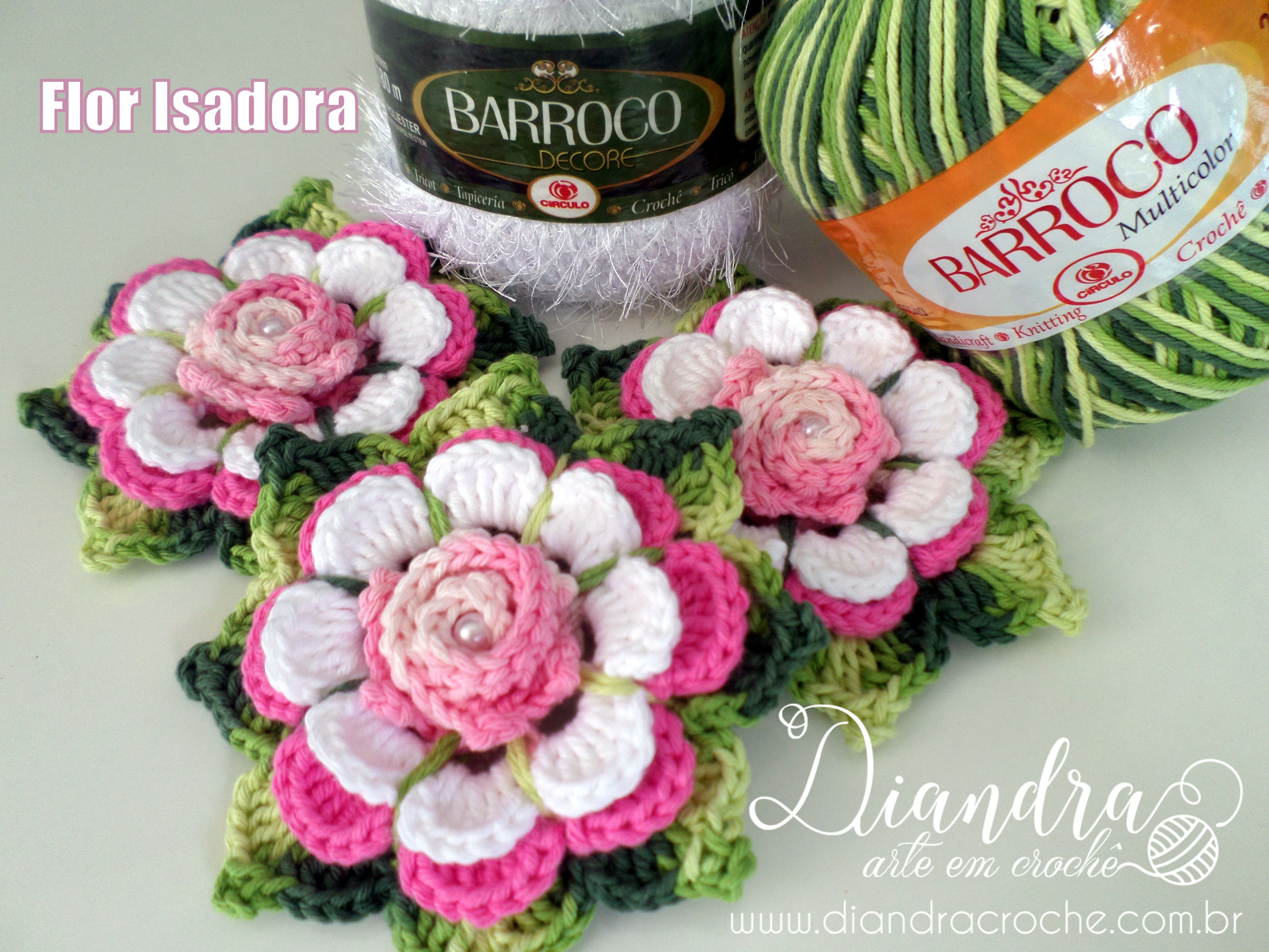 Flor Isadora Pap em www.diandracroche.com.br