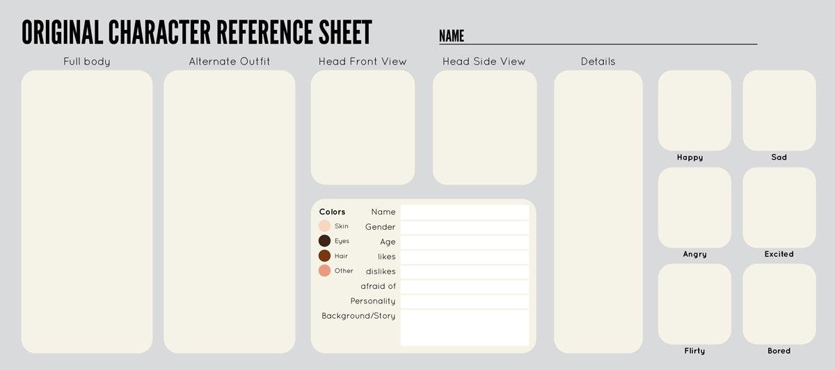 Oc Sheet Template By ZipporaDeviantartCom On Deviantart  Blank