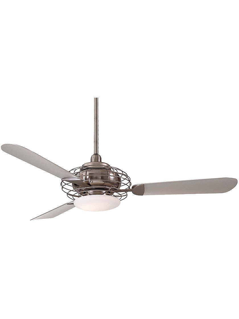 Acero 52 ceiling fan in brushed steel with silver finish blades acero 52 ceiling fan in brushed steel with silver finish blades aloadofball Images