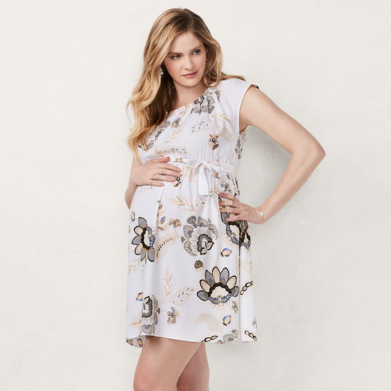 thoughts on fashion styles save off Maternity LC Lauren Conrad Pleated Fit & Flare Dress   Fit flare ...