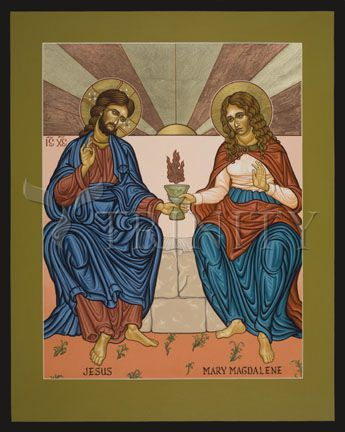 "Jesus and Mary Magdalene | Catholic Christian Religious Art - Icon by Lewis Williams, SFO - From your Trinity Stores crew, ""Some of our favs too!"""