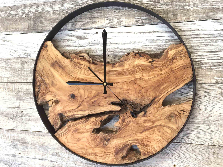 Wood Wall Clock Large Wall Clock Rustic Clock Reclaimed Wood Clock Wooden Clock Unique Wall Clo In 2020 Diy Clock Wall Wall Clock Design Rustic Clock