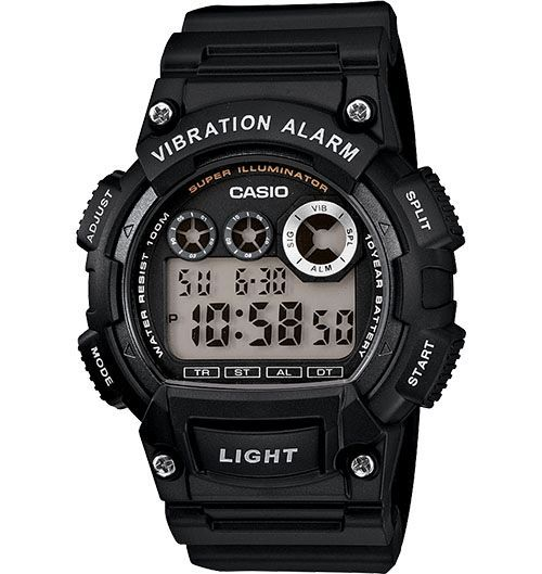 aa8cfead2303 Casio Men s Super Illuminator Black Watch W735H-2AVCF Black ...