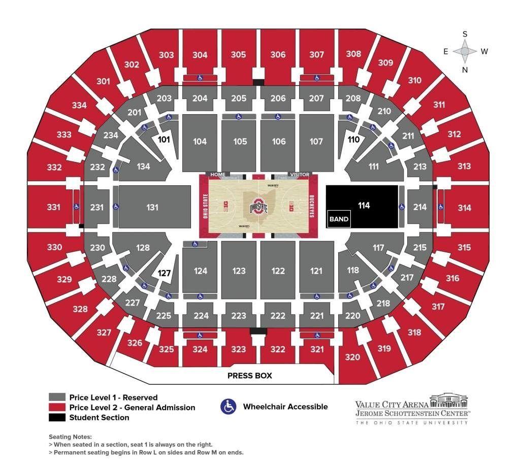 Ohio Stadium Seating Chart Ohio Stadium Seating Charts Ohio State Stadium