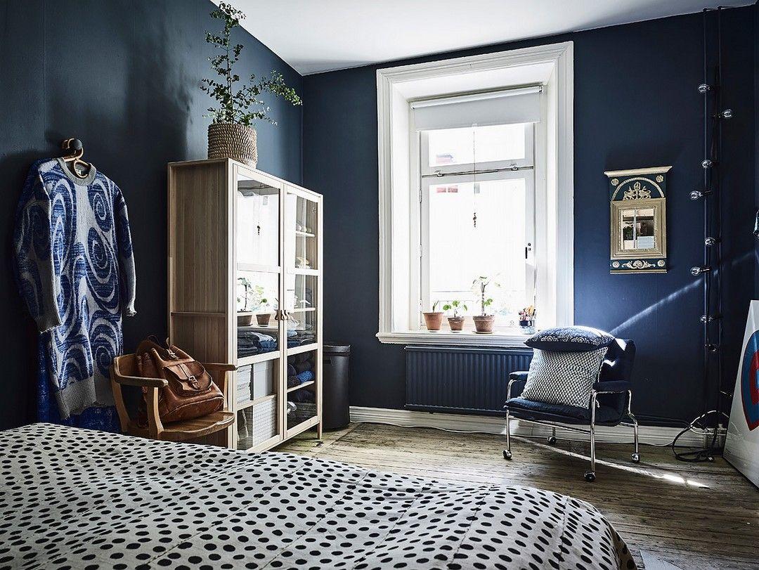 Deux Ou Trois Bleus With Images Scandinavian Interior Bedroom