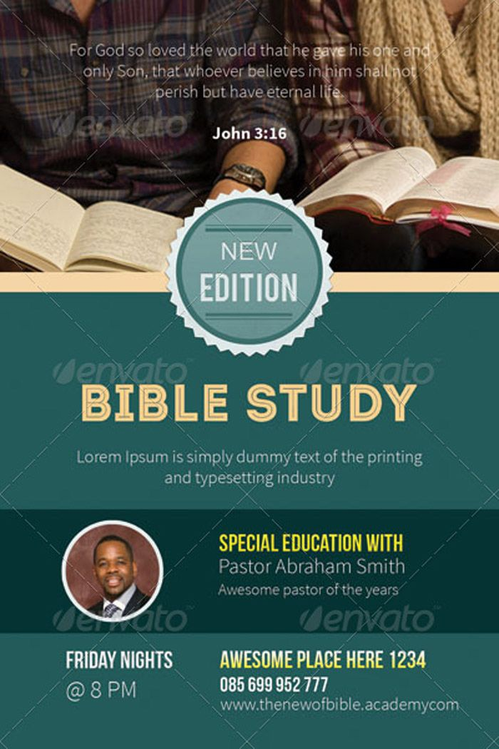 Church Bible Study Flyers Graphic Design Pinterest Bible