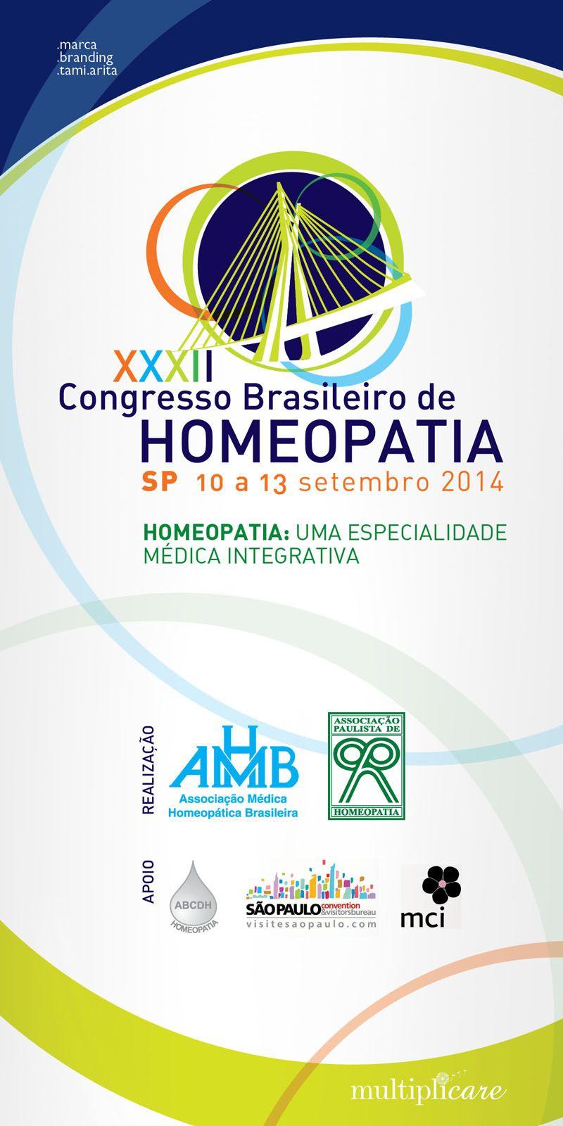 Esse ano tive a honra de criar novamente o logo para o Congresso Brasileiro de Homeopatia que será realizado pela APH (Associação Paulista de Homeopatia) e AMHB (Associação Médica Homeopática Brasileira). #marca #branding #homeopatia #tamiarita #multiplicare