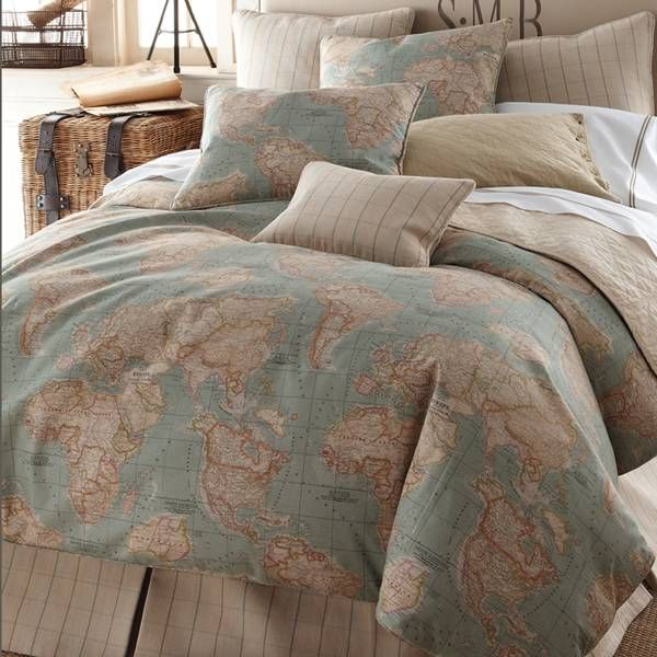 Bedspread map world buscar con google decor pinterest world map bedding set by horchow gumiabroncs Choice Image