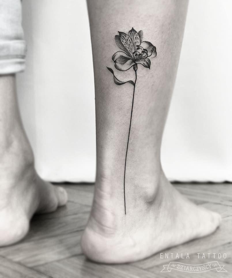Entala Tattoo On Instagram Alstroemeria For Basia Tattoos Discreet Tattoos Mum Tattoo