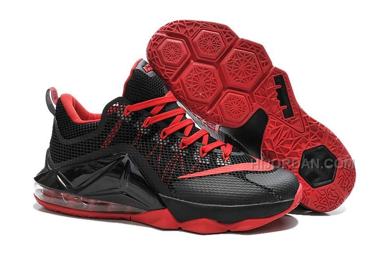 cheap for discount 6cfbe 68f8c Nike LeBron 12 Low Black/Varsity Red Cheap in 2019   Nike ...