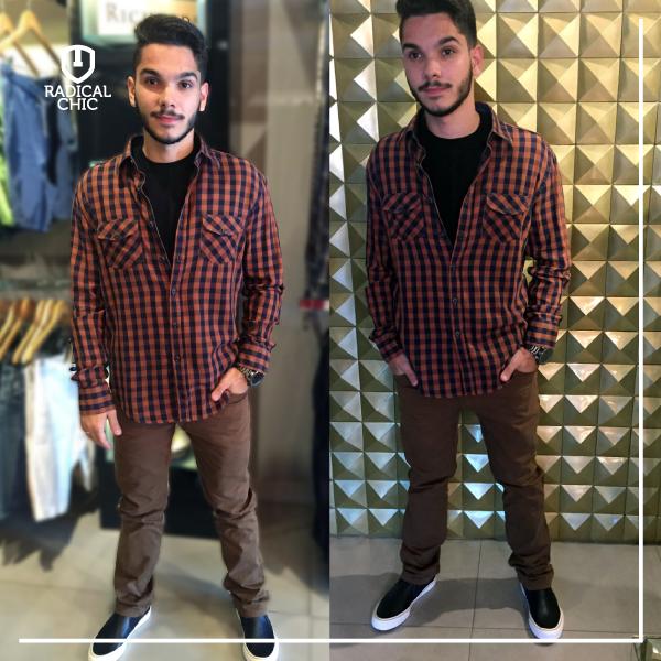 Uma nova tendência agora são as calças marrons. Quer saber como usar? Aqui vai umas dicas: ➤ Procure usar mais durante o dia. ➤ Além do Branco e do preto, ele combina legal com o Azul, vermelho e alguns tons de Verde.  #RadicalChic #ModaMasculina #Dicas