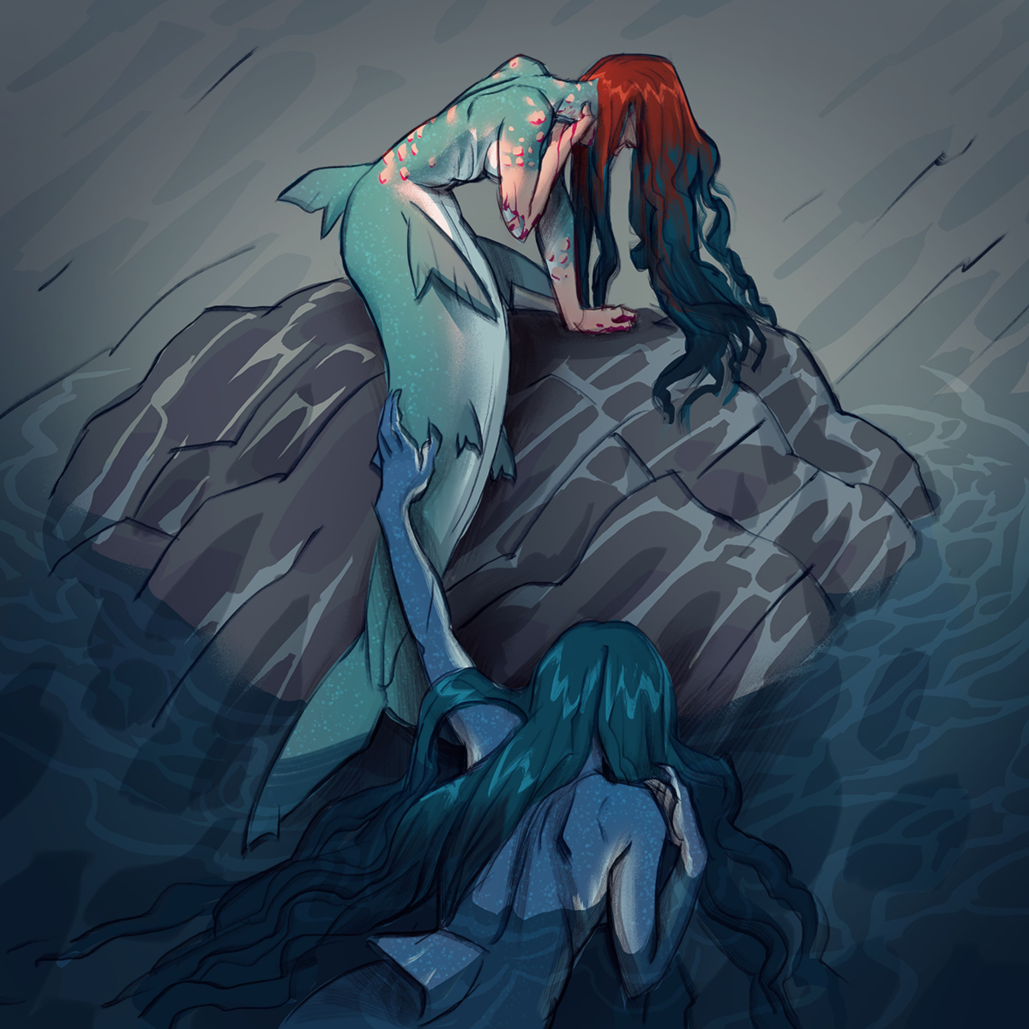 05042018 Merm3 by Makkon on DeviantArt Mermaid