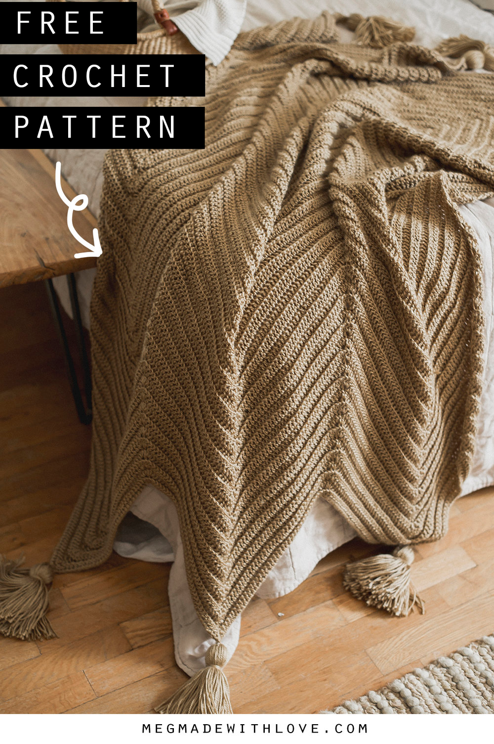 Grande Chevron Blanket - Free Crochet Pattern — Megmade with Love