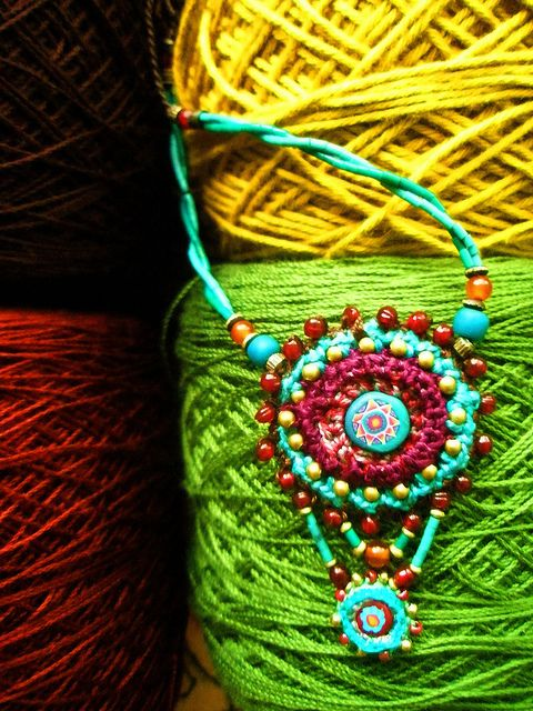 ~ crochet with handmade bead ~ | Flickr - Photo Sharing!