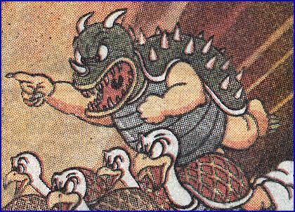 Early Artwork Of King Koopa And Koopa Troopas King Koopa