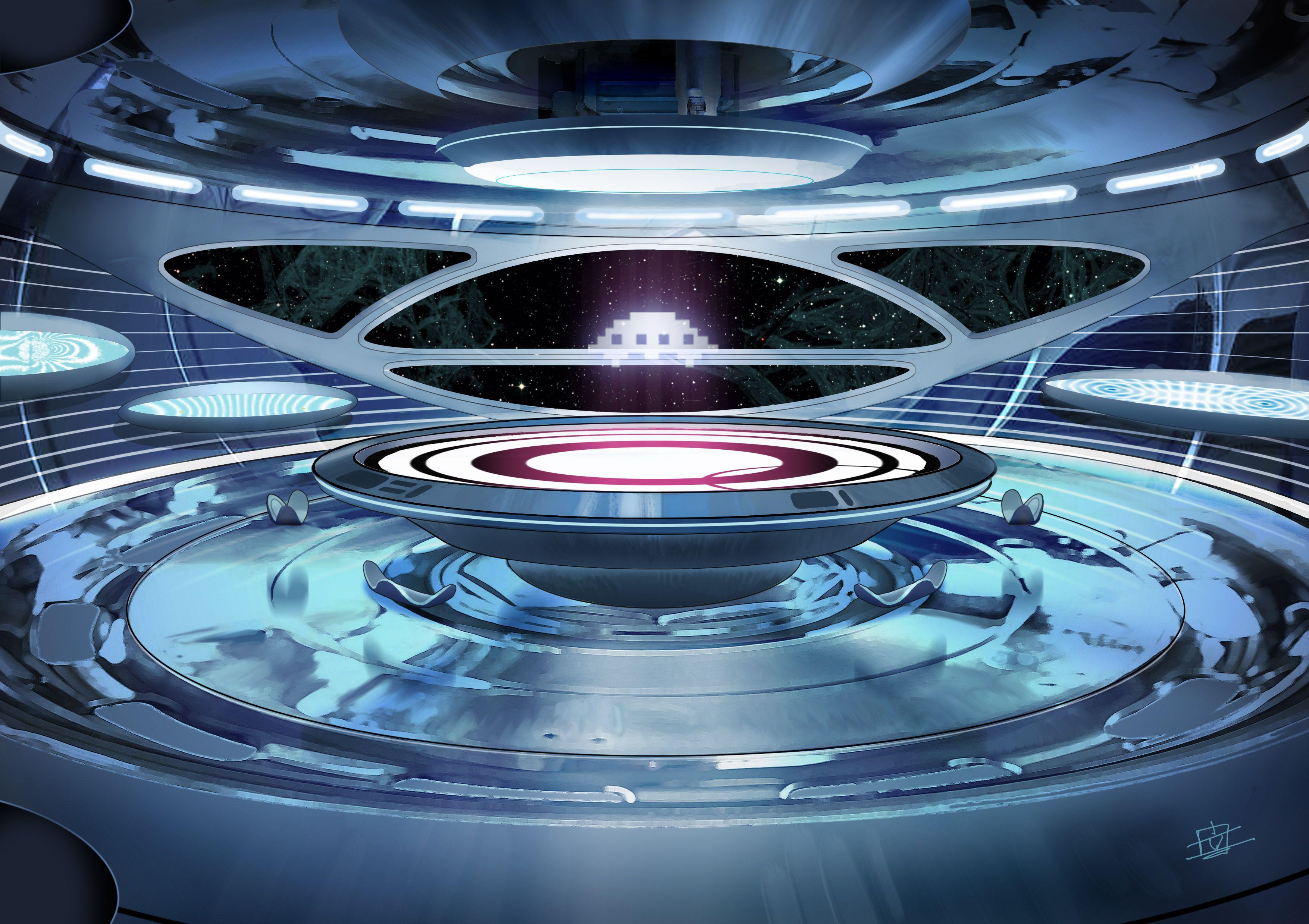 single person bridge sci fi spacecraft - photo #43