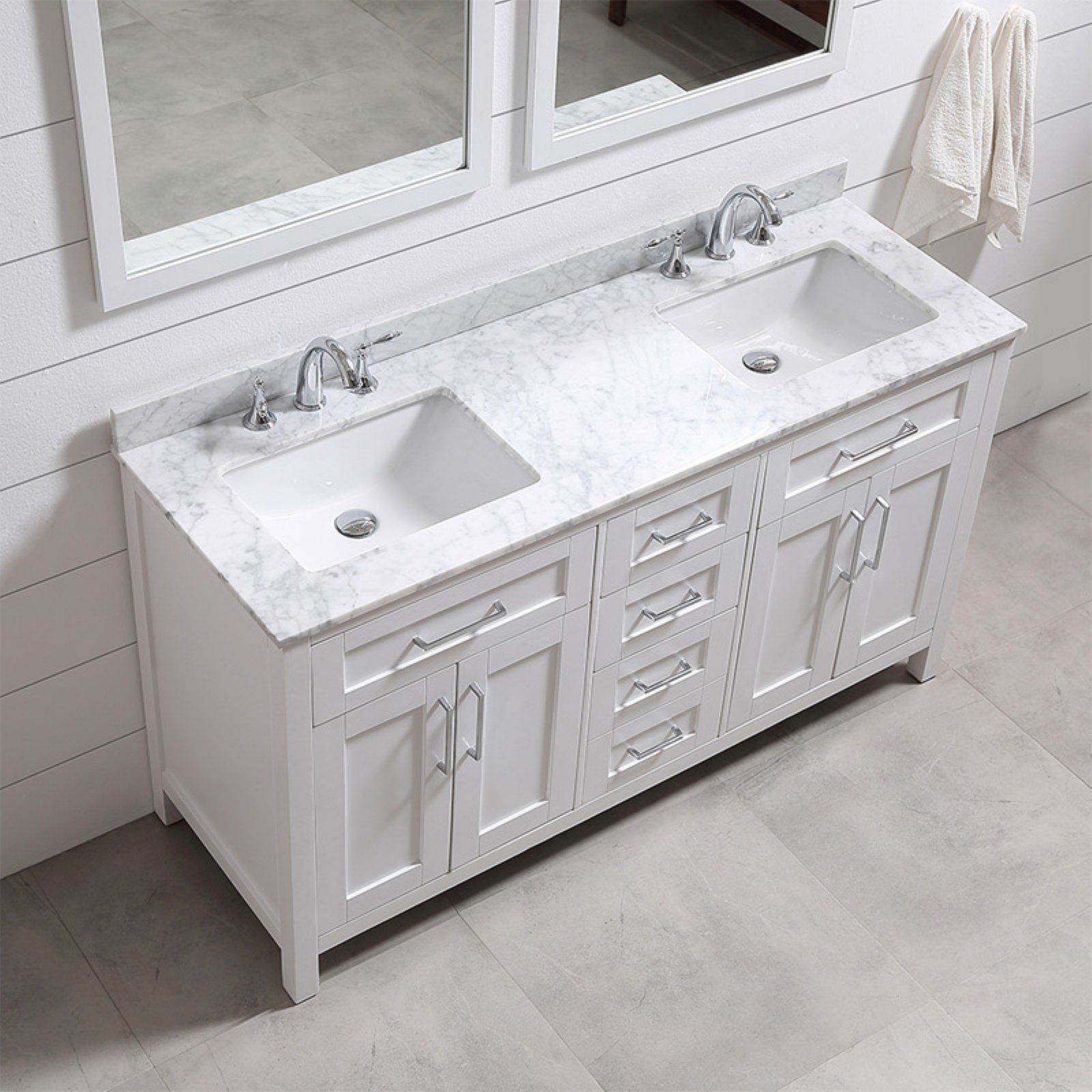 Ove Decors 60 In Double Sink Bathroom Vanity Bathroom Sink