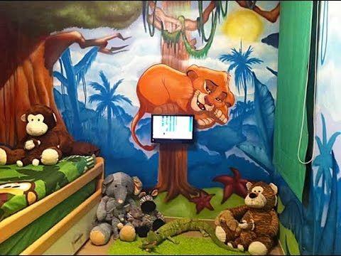 Murales infantiles pintados sobre paredes, decoracion infantil  habitaci...