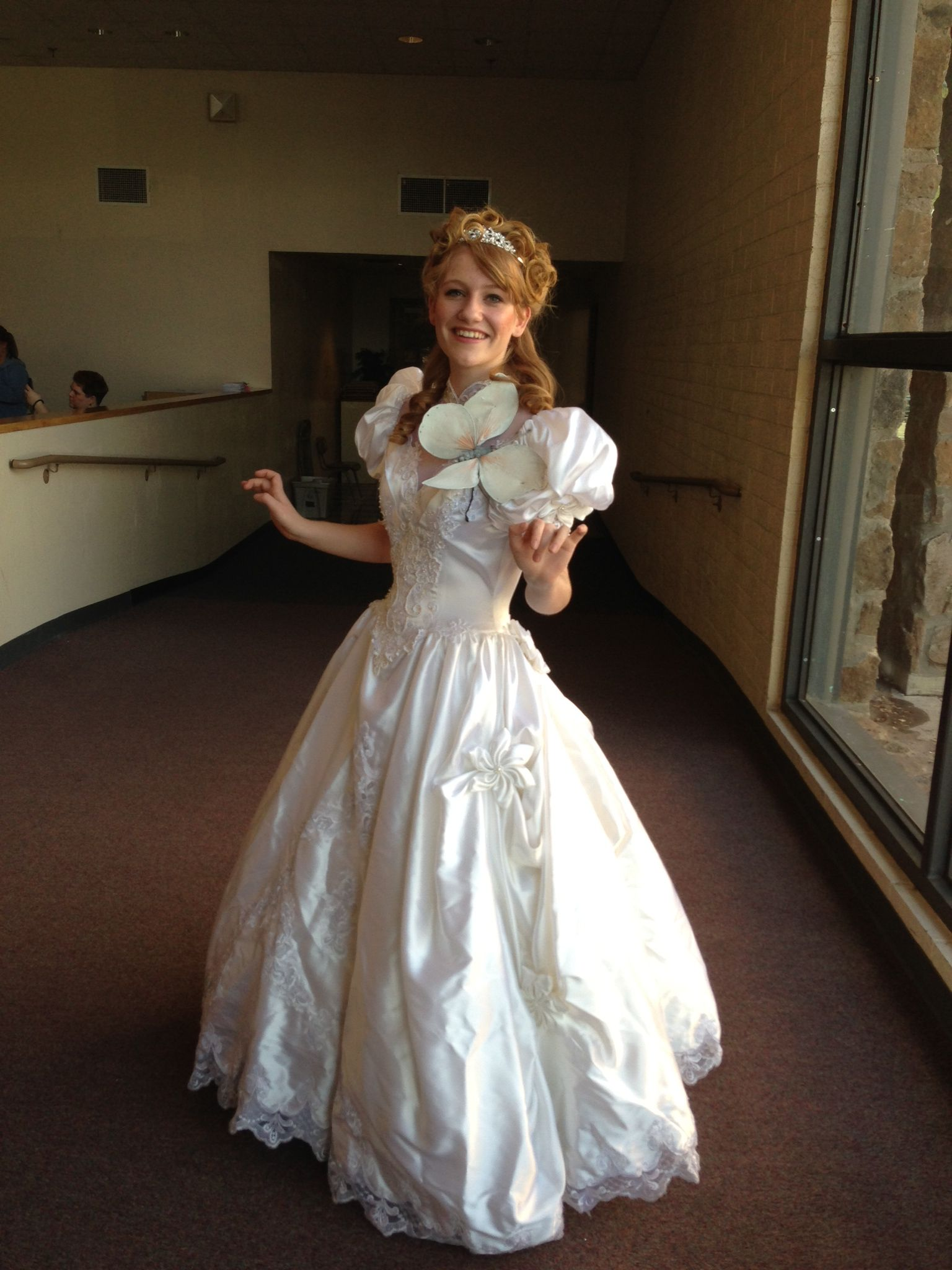 DIY Giselle From Enchanted Costume Old Wedding Dress From Goodwill 5 Cospl