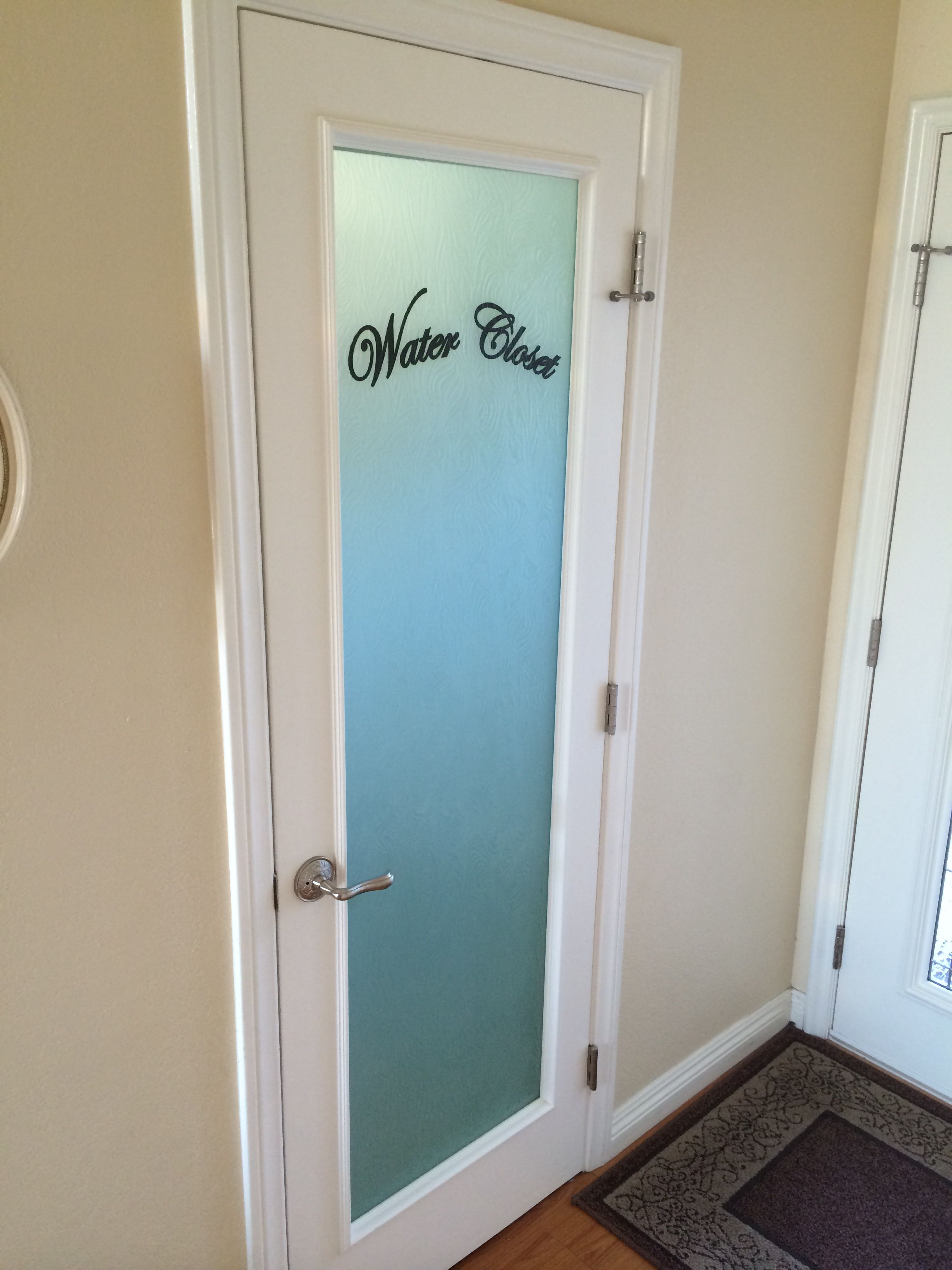 Bathroom Water Closet Door Panel Laminated Glass Using A
