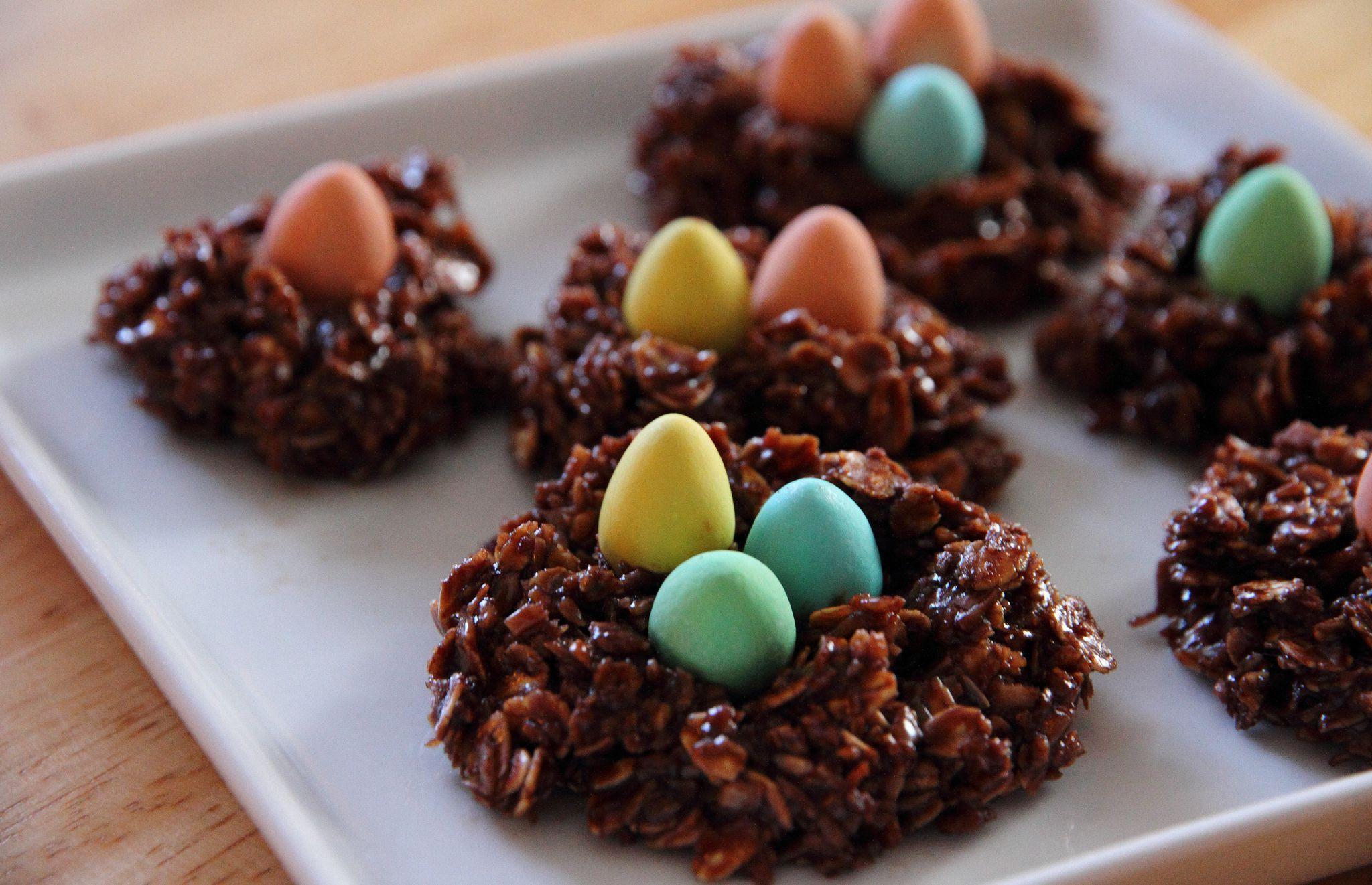 chow mein noodle bird's nest cookies | recipe | bird nest