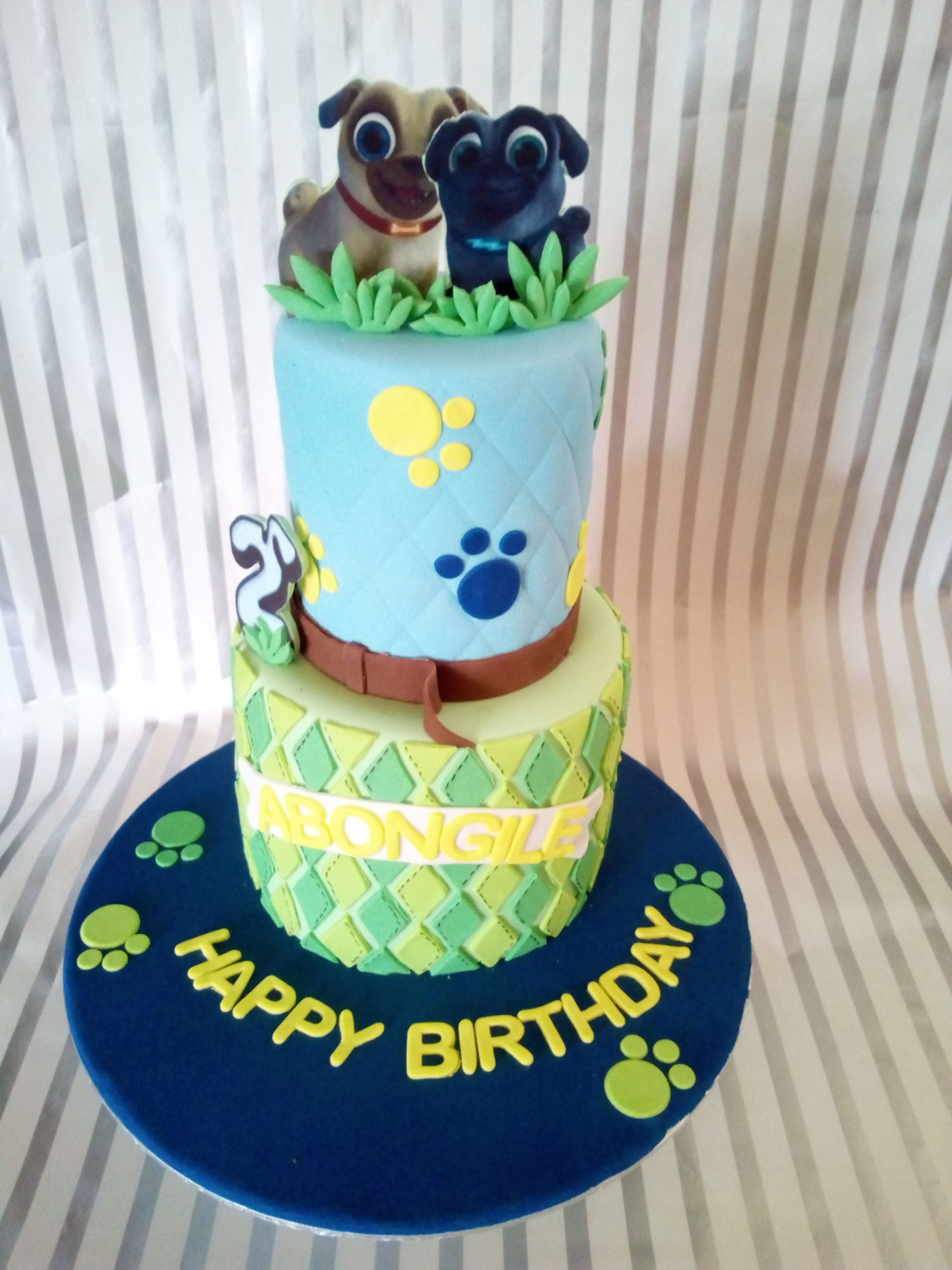 Puppy Dog Pals Birthday Cake Puppy Birthday First Birthday