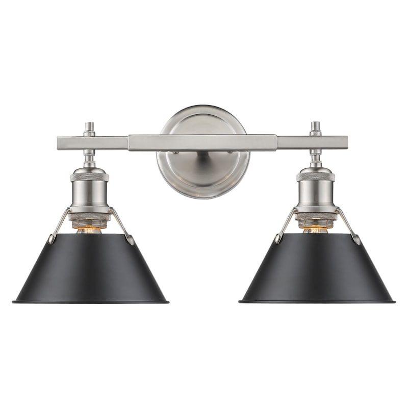 golden lighting 3306 ba2 pw orwell 2 light 18 1 4 wide bathroom rh pinterest com
